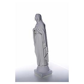 Statue Vierge Marie en marbre blanc 79 cm s6