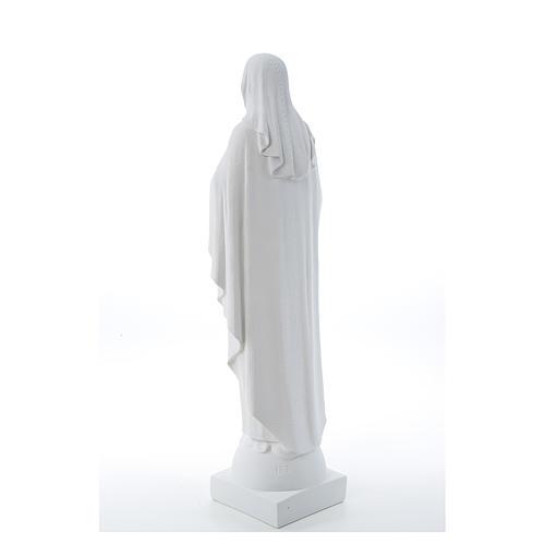 Statue Vierge Marie en marbre blanc 79 cm 3