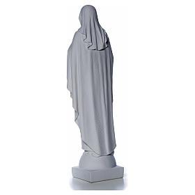 Madonna mani al cuore 79 cm marmo bianco s10