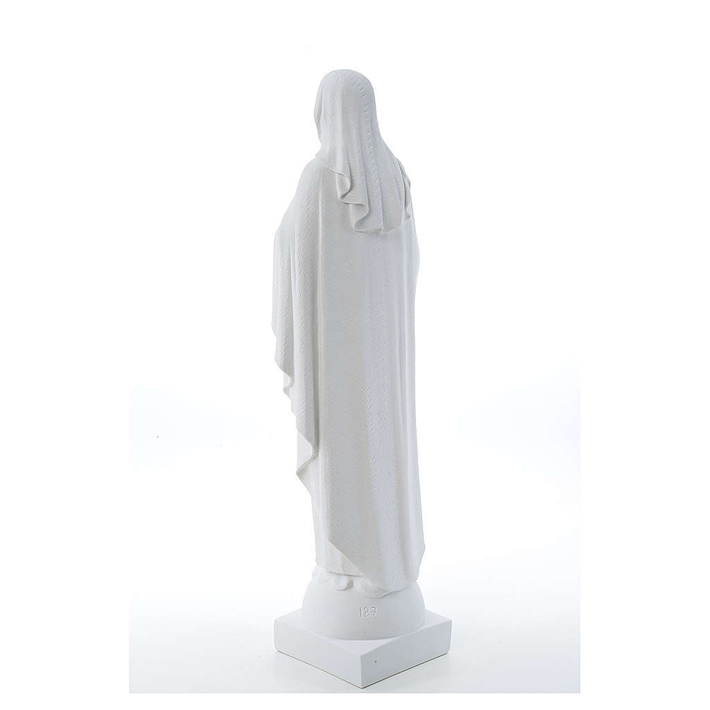 Our Lady with hand over heart, 79 cm reconstituted marble statue 4