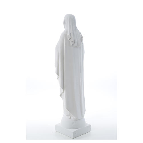 Our Lady with hand over heart, 79 cm composite marble statue 3