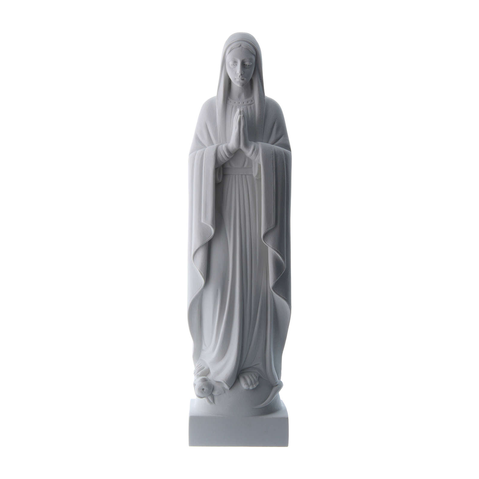 Virgen con las manos juntas, polvo de mármol blanco 40-51 cm 4