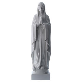 Our Lady praying, reconstituted carrara marble made statue 40-51 cm s1