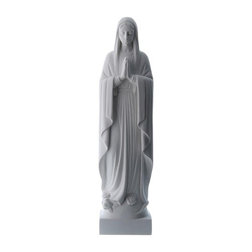Our Lady praying, reconstituted carrara marble made statue 40-51 cm 1