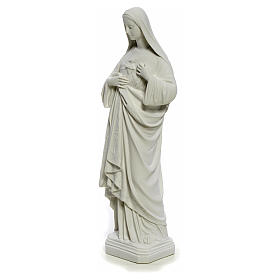 Holy Heart of Mary, 40 cm statue in reconstituted Carrara marble s6