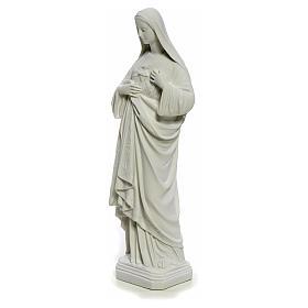Statua Sacro Cuore di Maria 40 cm marmo bianco s6