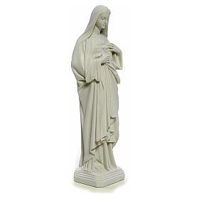 Statua Sacro Cuore di Maria 40 cm marmo bianco s8