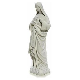 Statua Sacro Cuore di Maria 40 cm marmo bianco s2