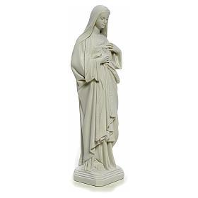 Statua Sacro Cuore di Maria 40 cm marmo bianco s4