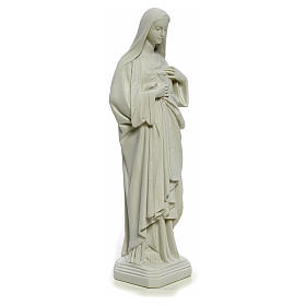 Figurka Niepokalane Serce Maryi marmur biały 40cm s8