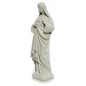 Holy Heart of Mary, 40 cm statue in reconstituted Carrara marble s3