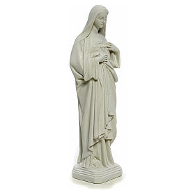 Holy Heart of Mary, 40 cm statue in reconstituted Carrara marble s5