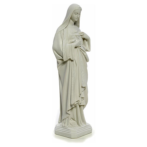 Holy Heart of Mary, 40 cm statue in Composite Carrara Marble 4