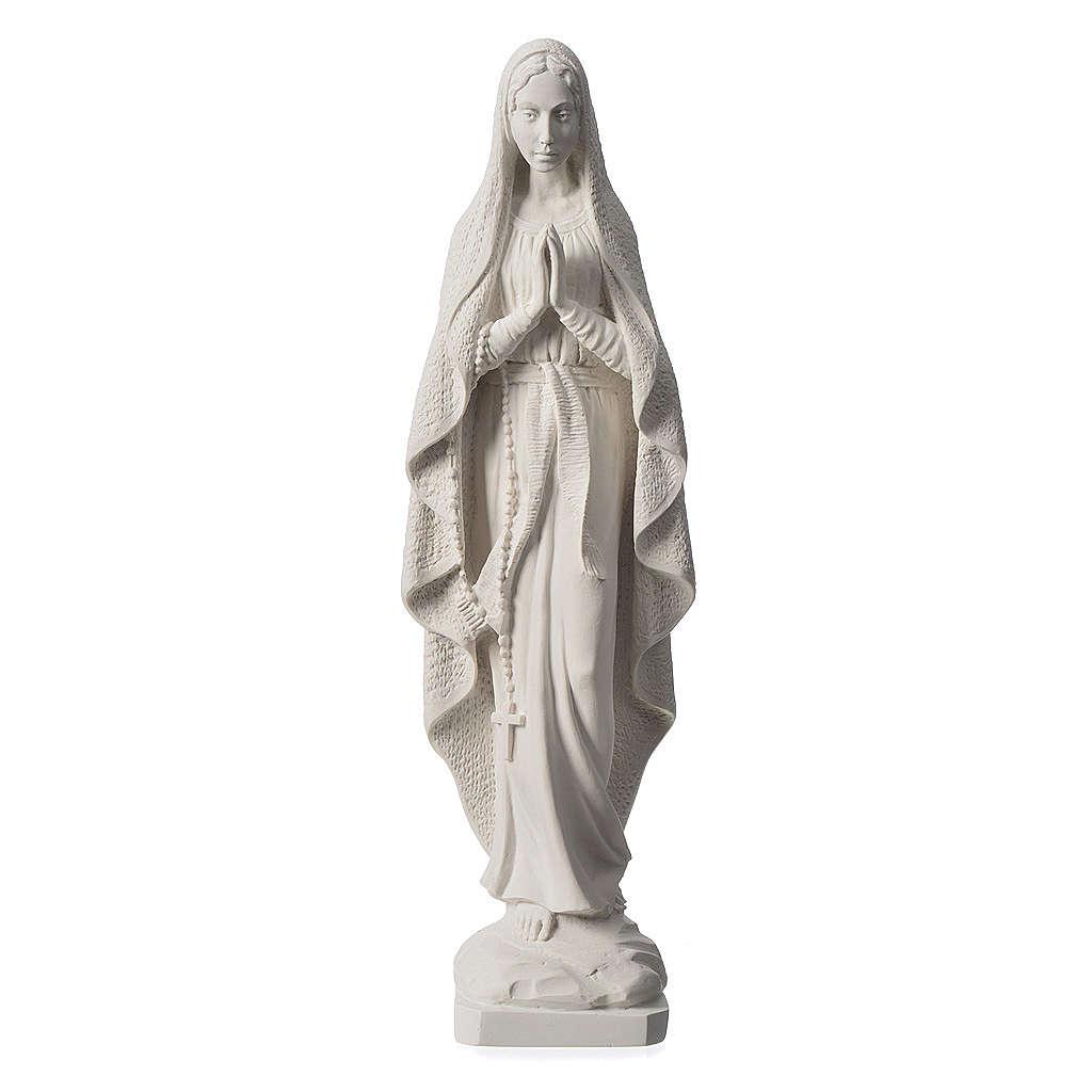 Virgen de Lourdes 50cm polvo de mármol sintético 4