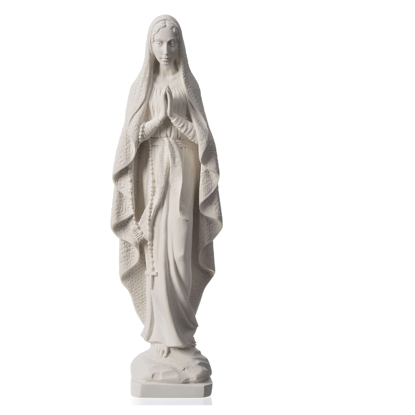 Madonna di Lourdes 50 cm marmo bianco 4