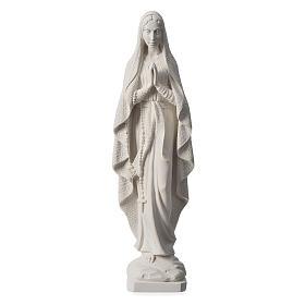 Madonna di Lourdes 50 cm marmo bianco s1