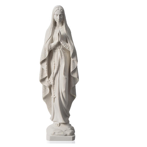 Madonna di Lourdes 50 cm marmo bianco 5