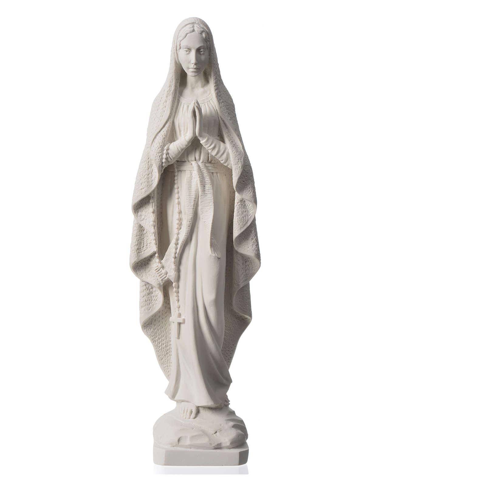 Madonna z Lourdes marmur biały 50cm 4