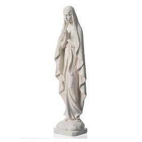 Madonna z Lourdes marmur biały 50cm s7