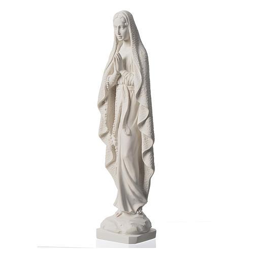 Madonna z Lourdes marmur biały 50cm 3