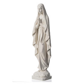 Our Lady of Lourdes statue in reconstituted Carrara marble, 19.5 inches s7