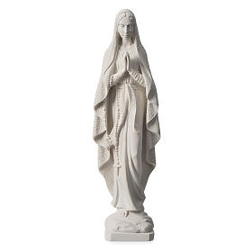 Our Lady of Lourdes statue in reconstituted Carrara marble, 19.5 inches s1