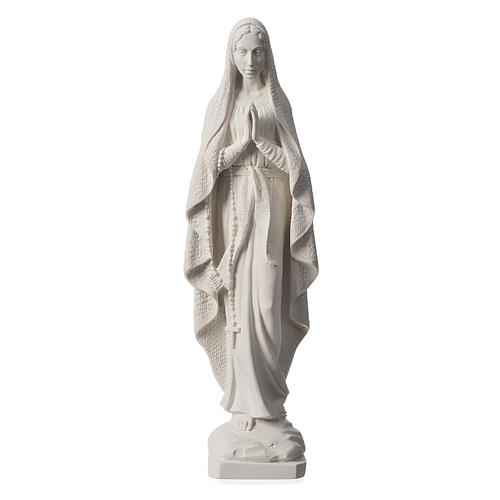 Our Lady of Lourdes statue in reconstituted Carrara marble, 19.5 inches 1