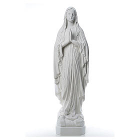 Marble statues: Our Lady of Lourdes statue made of reconstituted Carrara marble 31-130 cm