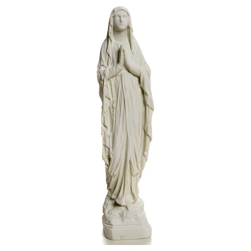Our Lady of Lourdes statue made of reconstituted Carrara marble 31-130 cm 5