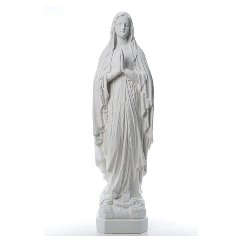 Our Lady of Lourdes statue made of reconstituted Carrara marble 31-130 cm 8