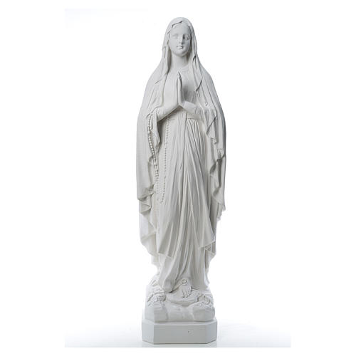 Our Lady of Lourdes statue made of reconstituted Carrara marble 31-130 cm 1