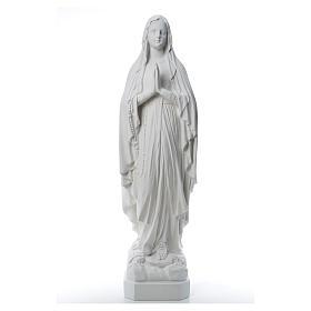 Estatua Virgen de Lourdes polvo de mármol 31-130 cm s8