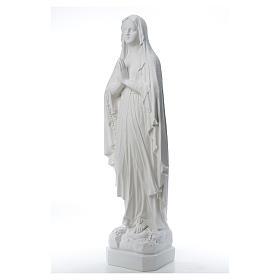 Estatua Virgen de Lourdes polvo de mármol 31-130 cm s9