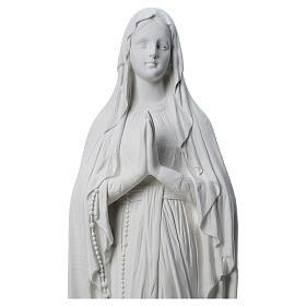 Estatua Virgen de Lourdes polvo de mármol 31-130 cm s2