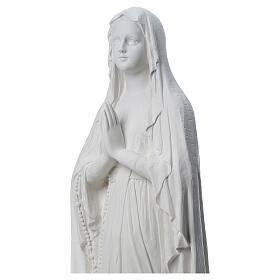 Estatua Virgen de Lourdes polvo de mármol 31-130 cm s4