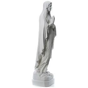 Estatua Virgen de Lourdes polvo de mármol 31-130 cm s5
