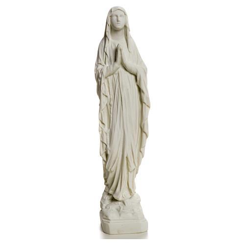 Estatua Virgen de Lourdes polvo de mármol 31-130 cm 5