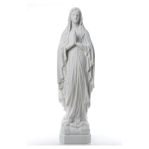 Estatua Virgen de Lourdes polvo de mármol 31-130 cm 8