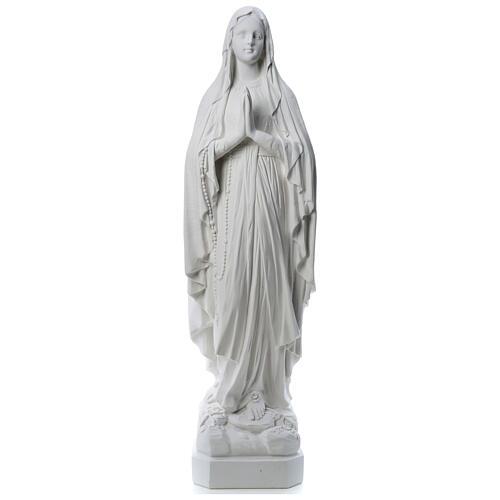 Estatua Virgen de Lourdes polvo de mármol 31-130 cm 1