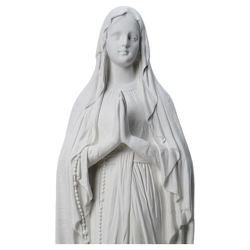 Estatua Virgen de Lourdes polvo de mármol 31-130 cm 2