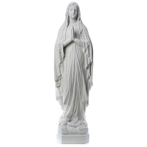 Estatua Virgen de Lourdes polvo de mármol 31-130 cm