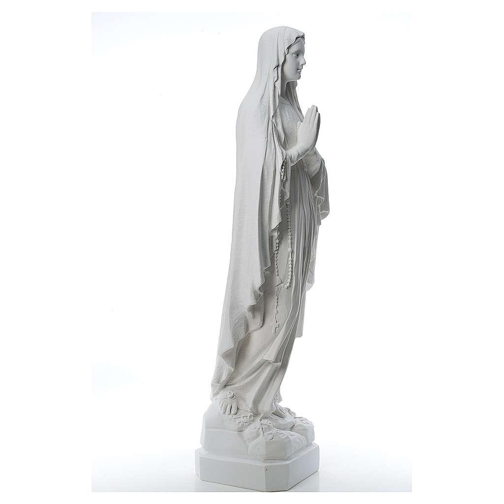 Statue Notre Dame de Lourdes poudre de marbre 31-130 cm 4