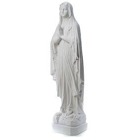 Statue Notre Dame de Lourdes poudre de marbre 31-130 cm s3