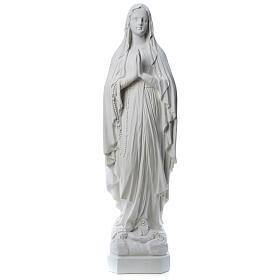 Statue Notre Dame de Lourdes poudre de marbre 31-130 cm
