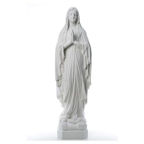 Statue Notre Dame de Lourdes poudre de marbre 31-130 cm 1