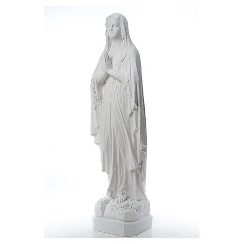 Statue Notre Dame de Lourdes poudre de marbre 31-130 cm 2