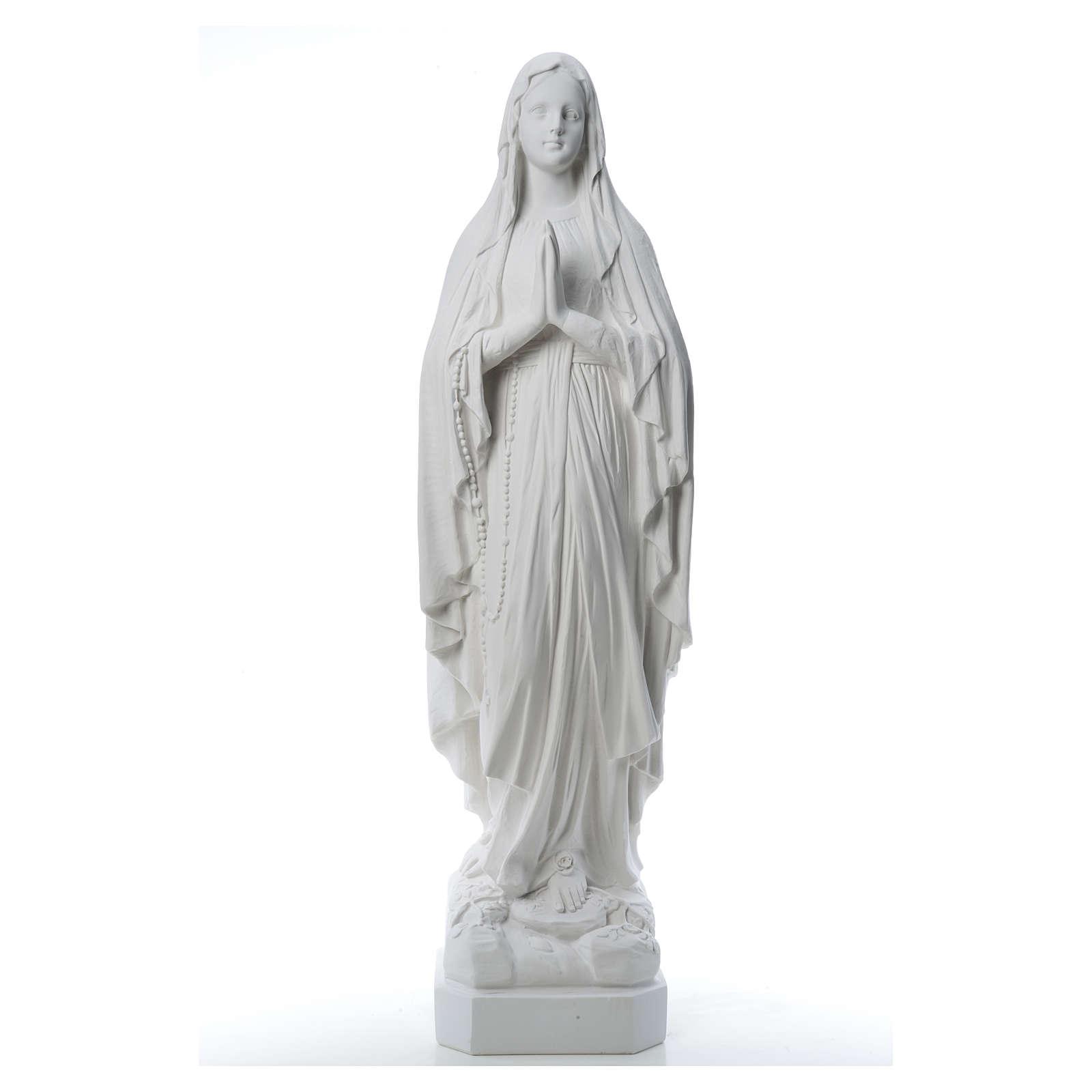 Madonna di Lourdes, statua in polvere di marmo 31-130 cm 4