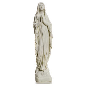 Madonna di Lourdes, statua in polvere di marmo 31-130 cm s5