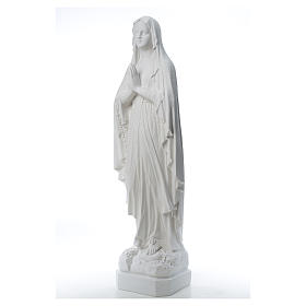 Madonna di Lourdes, statua in polvere di marmo 31-130 cm s9