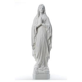Madonna di Lourdes, statua in polvere di marmo 31-130 cm s1